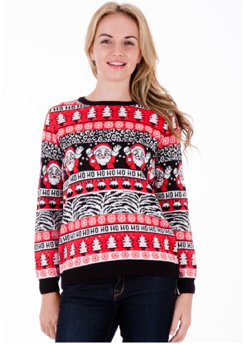 Comic Wave - Womens Christmas Sweater by British Christmas Jumpers