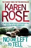 No One Left to Tell Karen Rose