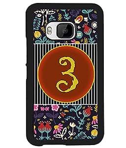 PrintVisa Metal Printed Numeric Designer Back Case Cover for HTC One M9-D4751