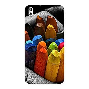 Gorgeous Multicolor Cryons Back Case Cover for HTC Desire 816s