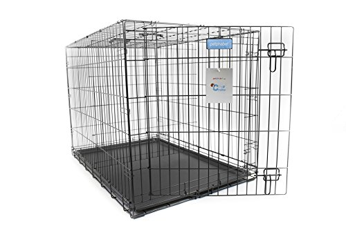petphabet the best singledoor collapsible pet dog crate with divider panel and plastic pan 48 by 30 by 33 inches for x large dogs 91 to 110 pounds by