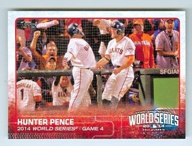 Hunter Pence baseball card (San Francisco Giants) 2015 Topps #9 2014 World Series Game 4