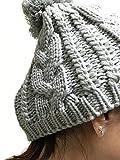 (アクト マインド) ACT MIND ポンポン ニット帽 メンズ レディース 帽子 シンプル 伸縮性 フリー サイズ ストリート ワッチキャップ ビーニーキャップ 小顔 (ライトグレー)