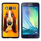 Smartphone Protective Case Hard Shell Cover for Cellphone Samsung Galaxy A3 SM A300 CECELL Phone case Basset Hound  Pendant Ear Dog