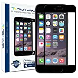 Tech Armor Apple iPhone 6 Premium Edge to Edge HD Clear Ballistic Glass Screen Protector (Black Edge) - Protect Your Screen from Scratches and Drops - Maximize Your Resale Value - 99.99% Clarity and Touchscreen Accuracy