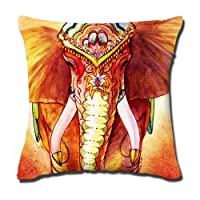 Amxstore Cotton Polyester Decorative Throw Pillow Cover Cushion Case Pillow Case,two side Lucky Elephant from ilkin