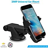 #2: ZAAP Quick Touch One Adjustable Car Windshield/Dashboard/Working Desk Mount for Phones upto  2.3 - 3.2 inches, 3rd Generation (Black)
