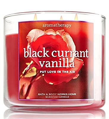 Bath & Body Works Aromatherapy Black Currant Vanilla 14.5 Oz 3 Wick RARE