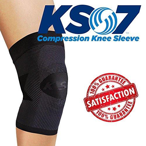 orthosleeve-ginocchiera-a-compressione-graduata-ks7-nero-taglia-m-7-zone-di-compressione-allevia-la-