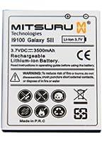 Mitsuru® 3500mAh Power batterie de remplacement pour Samsung Galaxy S2 i9100 / Plus i9105P remplace EB-F1A2GBUCSTD - avec couvercle batterie arrière, en couleur noir