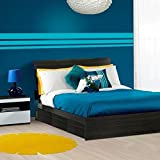 Nexera 225430 Allure Full Size Storage Bed, Ebony