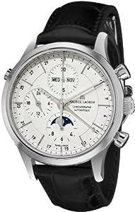 Maurice Lacroix Men's LC6078-SS00113E Les Classiqu Silver Chronograph Dial Watch by Maurice Lacroix