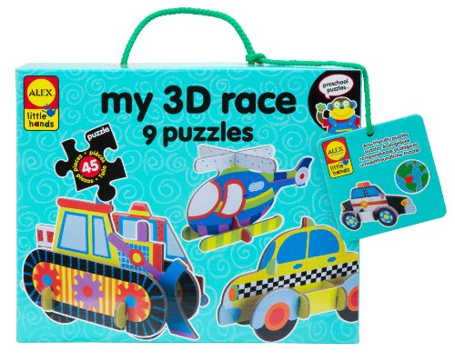 ALEX Toys Little Hands My 3D Race Puzzles