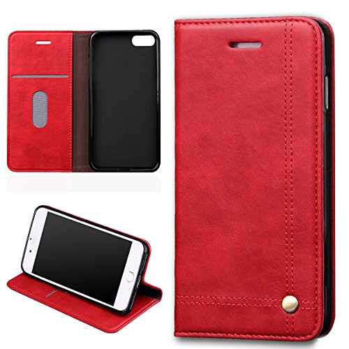 verttek-leather-case-for-apple-iphone-7-retro-cover-hot-red-flip-case-full-body-with-card-holder-car