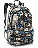 Graffiti Pattern School Bag 14.6 inch Laptop Backpack Canvas Backpack for Teenager Boys