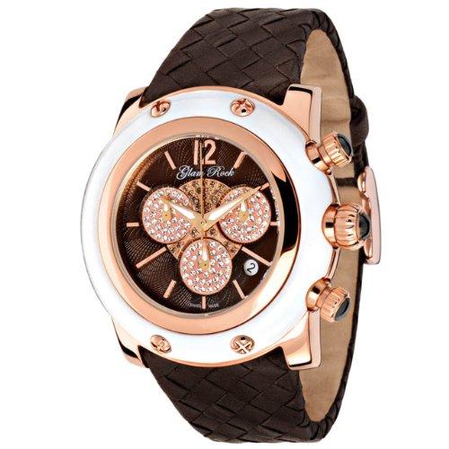Glam Rock GR10145 - Reloj cronógrafo de cuarzo para mujer con correa de piel, color marrón