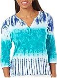 Caribbean Joe Womens Tie Dye Print Top