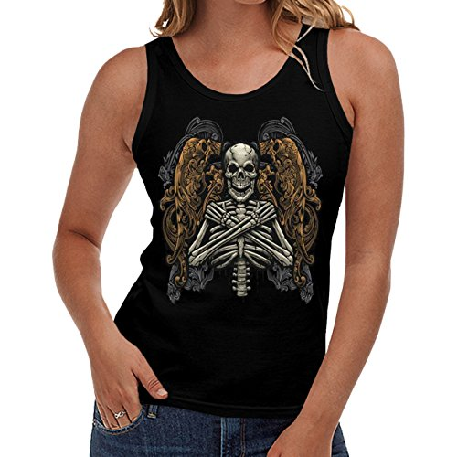 Wellcoda | Monster Skeleton Afterlife Curse Womens NEW Tank Top Black S-2XL