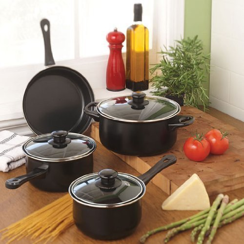 Gibson home cuisine select chef du jour 7 piece for Art and cuisine cookware