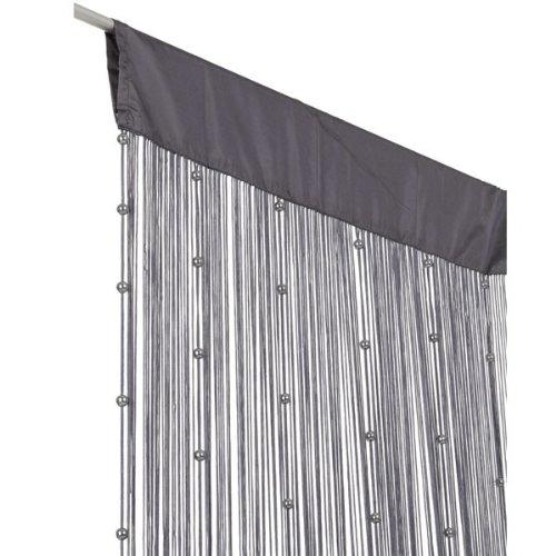 t rvorhang fadenvorhang t rvorhang insektenschutz perlen 90x250cm helena grau. Black Bedroom Furniture Sets. Home Design Ideas