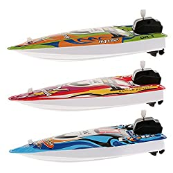 Imported Kids Children Inflatable Wind Up Speedboat Boat Pool Bath Toy Green #6