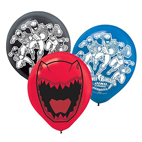 "Power Rangers Dino Charge 12"" Latex Balloons (6 Pack)"