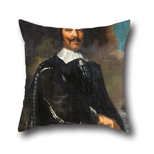The Oil Painting Karel Van Mander Iii - Michiel Adriaanszoon Reuter (1607-76) Pillowcase Of ,18 X 18 Inch / 45 By 45 Cm Decoration,gift For Seat,lounge,adults,bar Seat,festival,play Room (two Sides)