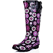 SPYLOVEBUY MEGAN Flat Festival Wellies Knee High Rain Boots