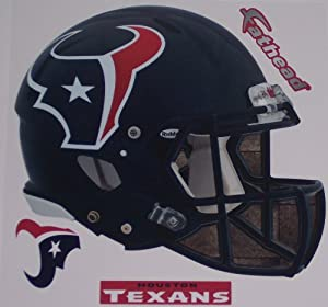 Houston Texans Fathead Helmet + Logo + Sign Set of 3 Official NFL Vinyl Wall Graphics... by Fathead
