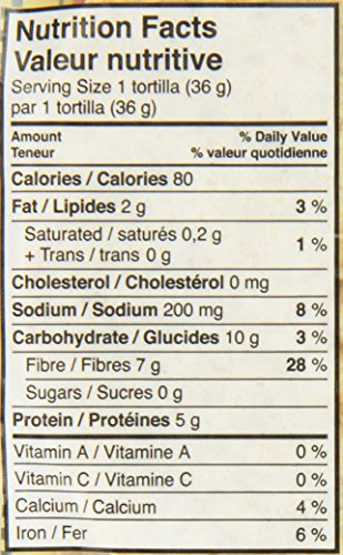 "7"" La Tortilla Factory Whole Wheat Low Carb Tortillas 13 oz - 10 count(Regular Size)"