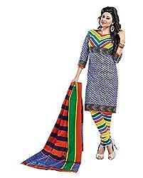 Balaji Womens Cotton Unstitched Dress Material(5116+Blue+Free Size)