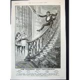 Niños 1891 del Jabón de la Marca del Mono de Brooke Que Deslizan Abajo del Anuncio de las Escaleras