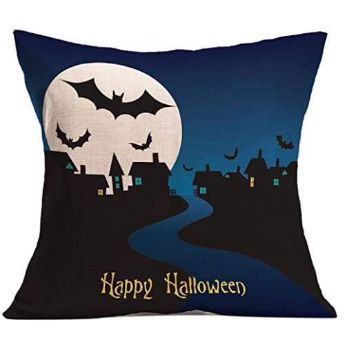 TIFENNY Halloween Pillow Case Sofa Waist Throw Cushion Cover