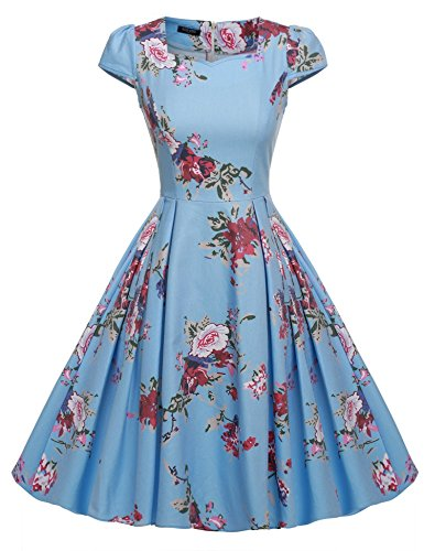 ACEVOG-Womens-1950s-Cap-Sleeve-Swing-Vintage-Floral-Party-Dresses-Multi-Colored
