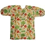 Kid's Long Sleeve Fabric Art Smock, Size Adjustable (L: 5 -8 Years, Animal Kingdom
