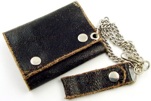 Vintage Leather Chain Wallet #4
