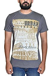 Stakoo Mens Cotton Tshirt(ST-5_S_Grey_Small)