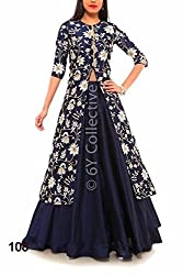 Royal Fashion blue cotty DESIGNER LEHENGS CHOLI MATERIAL.