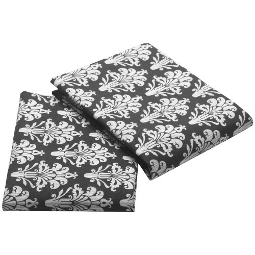 White Damask Bedding 9943 front