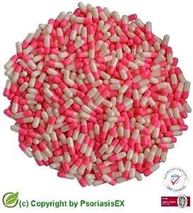 "PsoriasisEX   1000 Gélules en gélatine dure, Taille ""4"" [rose-blanc]"