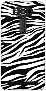 The Racoon Lean printed designer hard back mobile phone case cover for Asus Zenfone 2 Laser ZE550KL. (Zebra Stri)