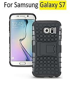 AA19 Samsung Galaxy S7 , Flip Kick Stand Spider Hard Dual Rugged Armor Back Case For Samsung Galaxy S7 -Rugged Black