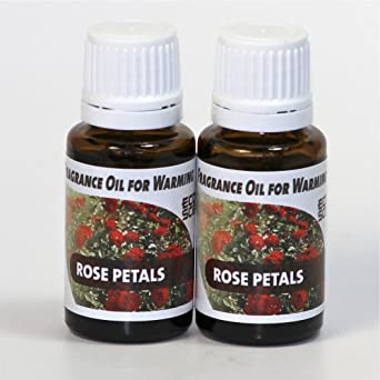 2-Pack. Rose Petals Fragrance Oil for Warming from Ecoscents (15 mL). Highly concentrated for intense fragrance, ready to use - no wax or water carrier needed.