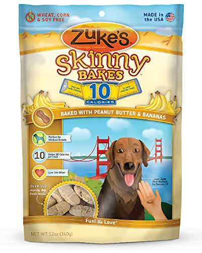 Zuke's Skinny Bakes Dog Treats, Peanut Butter and Banana, 10-Calories, 12-Ounce (Bake Dog Treats compare prices)