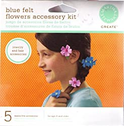 Blue Felt Flowers Kit By Martha Stewart Create