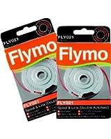 Flymo FLY021 Lot de 2 bobines de recharge double-fil pour coupe-bordures