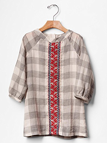 Gap Baby Plaid Embroidered Shift Dress Size 2 Yrs front-895202