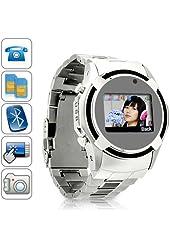 VIP Watch Cell Phone Mobile Dual Sim Dual Standby 1GB internal Memory Cam Yellow Ring