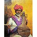 "Dolls Of India ""A Rajasthani Musician"" Reprint On Paper - Unframed (71.12 X 55.88 Centimeters)"