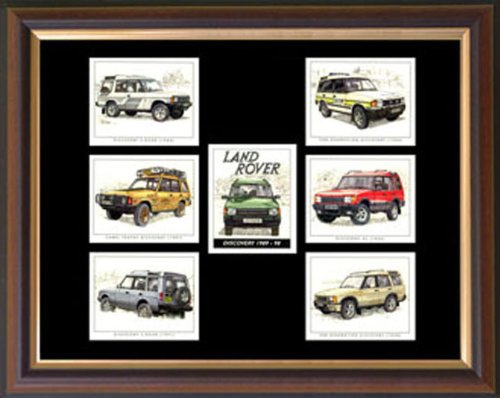 """""""Land Rover Discovery"""" Framed Card Set"""